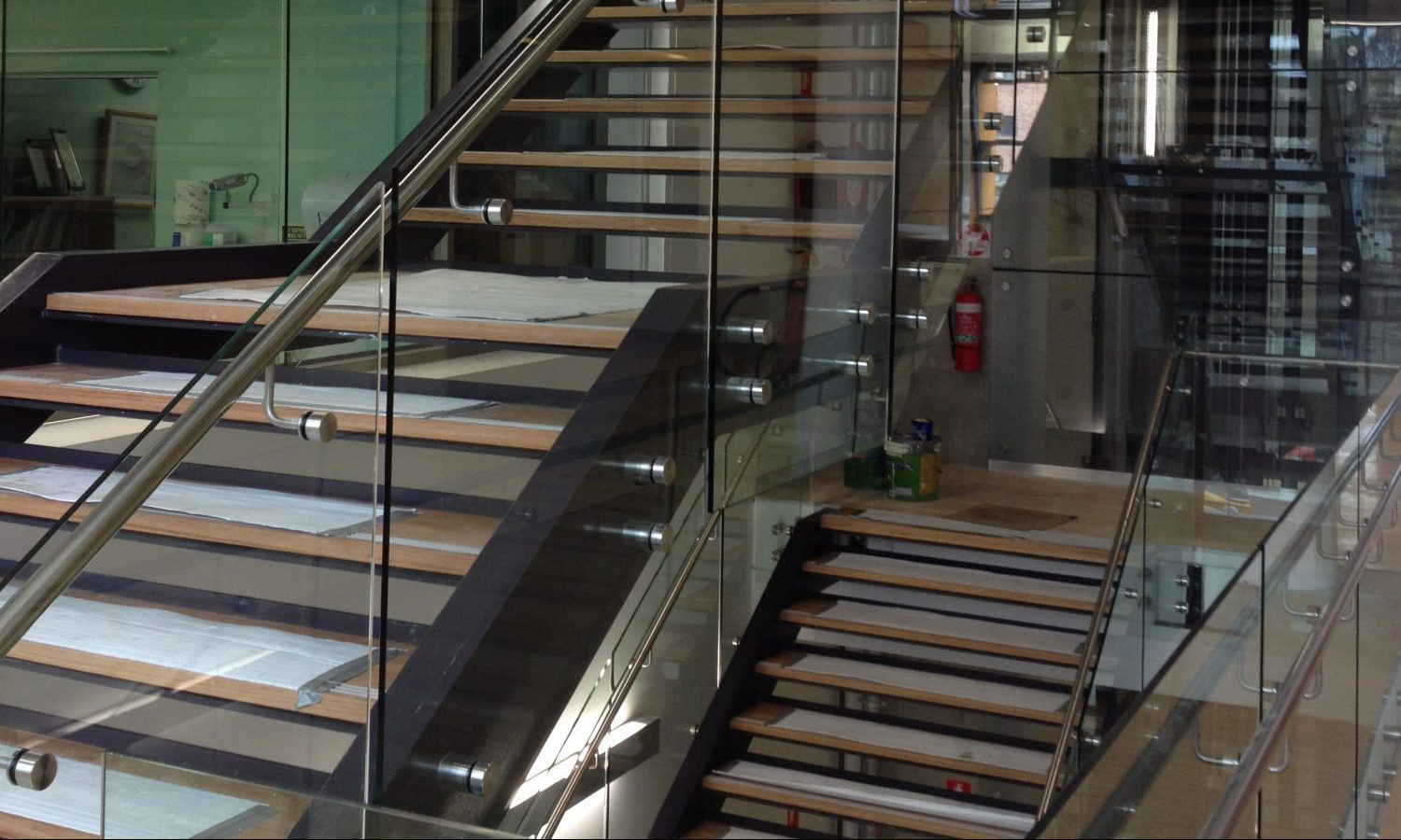 Stainless Steel Balustrading and Glass
